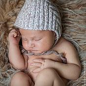 Работы для детей, manualidades. Livemaster - hecho a mano gorra para que el chico de la gorra de punto Pequeño elfo