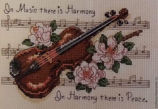 """Картины цветов ручной работы. Ярмарка Мастеров - ручная работа. Купить Вышитая картина """"Гармония"""" (Без оформления). Handmade. Разноцветный"""