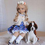 Интерьерная текстильная кукла ЮЛЕНЬКА