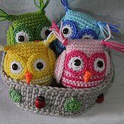 Куклы и игрушки ручной работы. Ярмарка Мастеров - ручная работа совы вязаные. Handmade.
