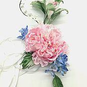 Украшения handmade. Livemaster - original item Silk flowers. Flower bracelet