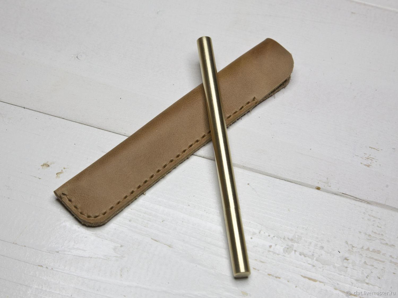 Ручка латунная и чехол из натуральной кожи, Ручки, Санкт-Петербург,  Фото №1