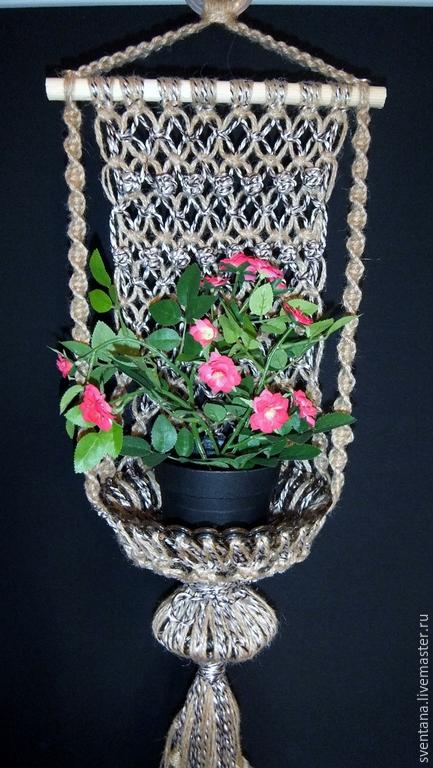 Вазы ручной работы. Ярмарка Мастеров - ручная работа. Купить Подвесная ваза-кашпо Классика. Handmade. Кашпо для цветов