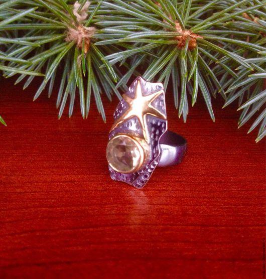Винтажные украшения. Ярмарка Мастеров - ручная работа. Купить Винтажное кольцо с цитрином. Handmade. Кольцо, подарок, кольцо с цитрином