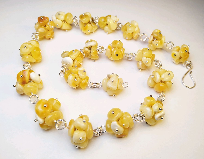Amber Necklace ' Hedgehogs', Necklace, Kaliningrad,  Фото №1