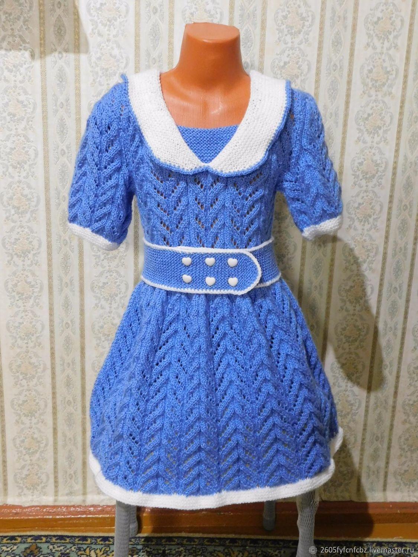 Одежда для девочек, ручной работы. Ярмарка Мастеров - ручная работа. Купить Детское платье. Handmade. Платье для девочки, вязаное спицами