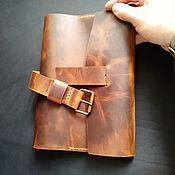 Чехол ручной работы. Ярмарка Мастеров - ручная работа Кожаный чехол для блокнота формат а5. Handmade.