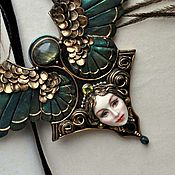 Necklace handmade. Livemaster - original item necklace Gamayun sculpted miniature.. Handmade.