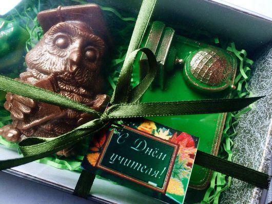 """Подарочные наборы косметики ручной работы. Ярмарка Мастеров - ручная работа. Купить Подарочный набор мыла """"Ко Дню Учителя!"""" - С Днём учителя!. Handmade."""