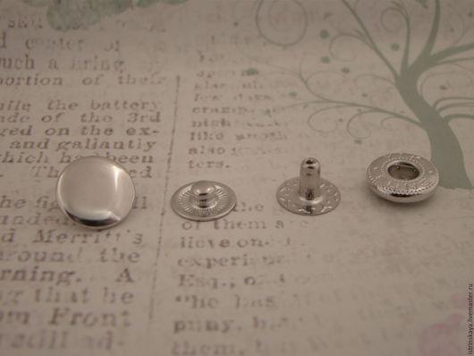 Шитье ручной работы. Ярмарка Мастеров - ручная работа. Купить Кнопка пружинная 10 мм никель. Handmade. Серебряный, кнопки