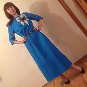 Одежда ручной работы. Ярмарка Мастеров - ручная работа Войлочное платье бирюзовое с цветком. Handmade.