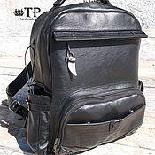Сумки и аксессуары handmade. Livemaster - original item City leather backpack. Handmade.