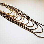 "Украшения handmade. Livemaster - original item Wooden multistrand necklace ""Cascade"". Handmade."