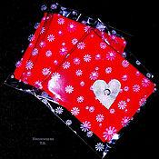 Аксессуары handmade. Livemaster - original item Handkerchief with heart and rhinestone. Handmade.