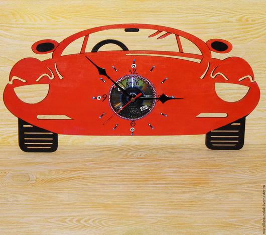 Часы настенные Оранжевый автомобиль