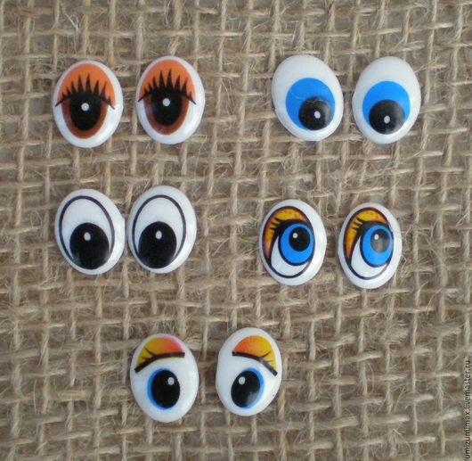 Куклы и игрушки ручной работы. Ярмарка Мастеров - ручная работа. Купить Маленькие овальные глазки. 10 на 13 мм.. Handmade.