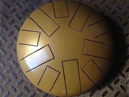 Ударные инструменты ручной работы. Ярмарка Мастеров - ручная работа. Купить Глюкофон большой 10 лепестков Gold (Глянцевый). Handmade. Оранжевый