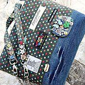 Сумки и аксессуары ручной работы. Ярмарка Мастеров - ручная работа УютЫш гороХ Denim сумка cross-body bag джинса синий серый сумка купить. Handmade.