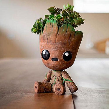 Flowers and floristry handmade. Livemaster - original item Baby Groot toy to buy a pot of flowers dancing. Handmade.