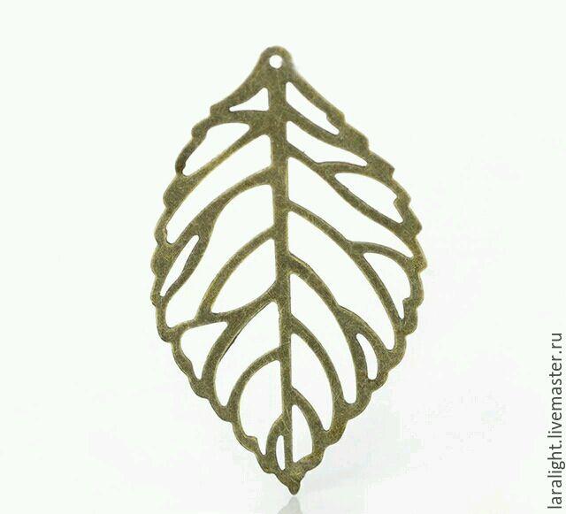 Филигрань листик подвеска