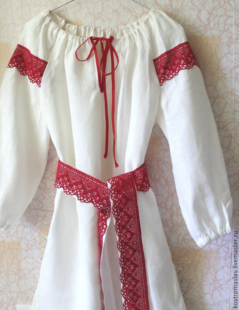 Женская славянская рубаха своими руками 49