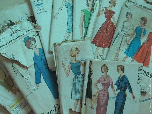 Реставрация. Ярмарка Мастеров - ручная работа. Купить винтажные выкройки Vogue и McCall s (женские модели). Handmade. Выкроикa, выкроикa