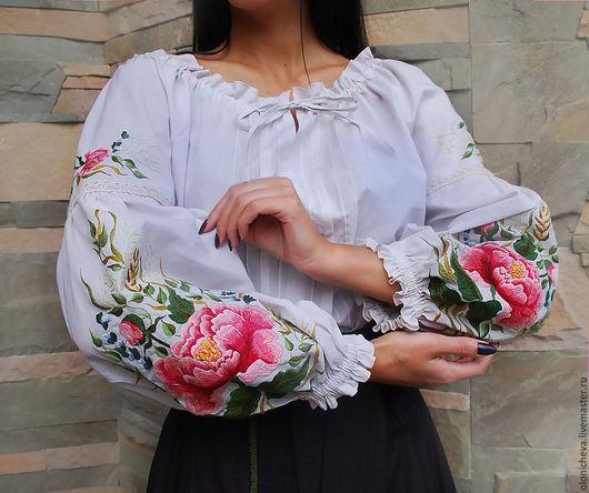 Платья ручной работы. Ярмарка Мастеров - ручная работа. Купить Женский комплект с вышивкой ручной работы «Магия цветка». Handmade.