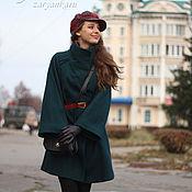Пальто ручной работы. Ярмарка Мастеров - ручная работа Пальто из драпа малахитового цвета. Handmade.