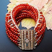 Украшения handmade. Livemaster - original item Cornelian Citrine Bracelet GOLDEN AUTUMN Natural stones Author`s works. Handmade.