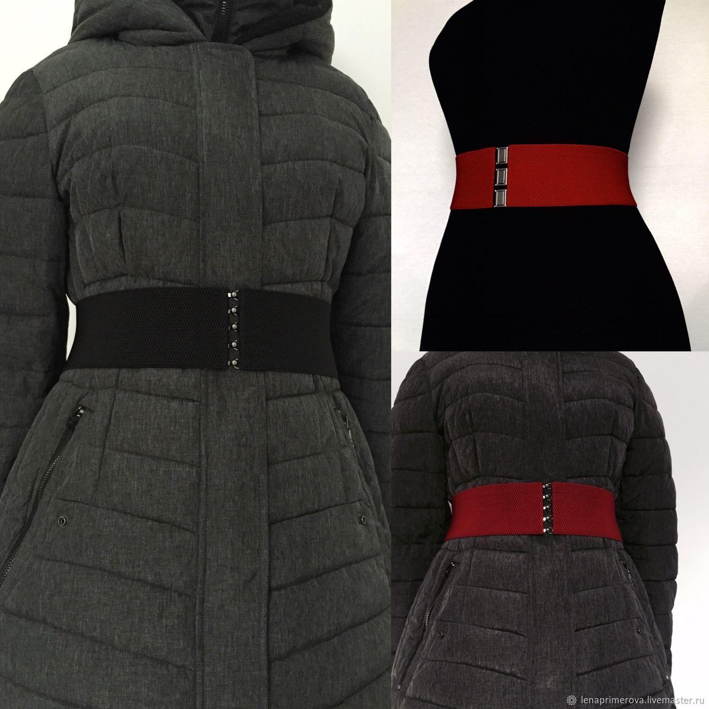 Belt of different color elastics, black, dark red, brown, grey, Belt, Moscow,  Фото №1
