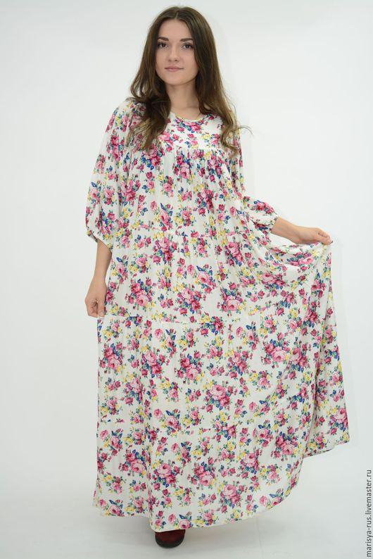 """Платья ручной работы. Ярмарка Мастеров - ручная работа. Купить Платье """"Июль"""". Handmade. Белый, платье в русском стиле"""