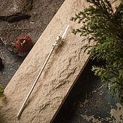 Украшения handmade. Livemaster - original item Hair stick with silver and rock crystal (h1-002-a-19). Handmade.