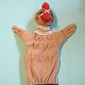 Куклы и игрушки handmade. Livemaster - original item RIABA the hen. A glove puppet.. Handmade.