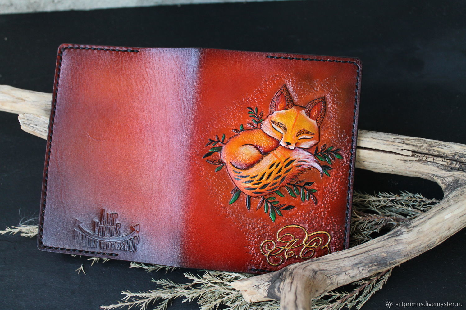 Cover based on Fox cub tattoo, embossing painting, Cover, Voronezh,  Фото №1