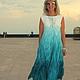 Платья ручной работы. Ярмарка Мастеров - ручная работа. Купить Платье валяное Сон белой чайки. Handmade. Морская волна