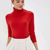Одежда handmade. Livemaster - original item Turtleneck red warm. Handmade.