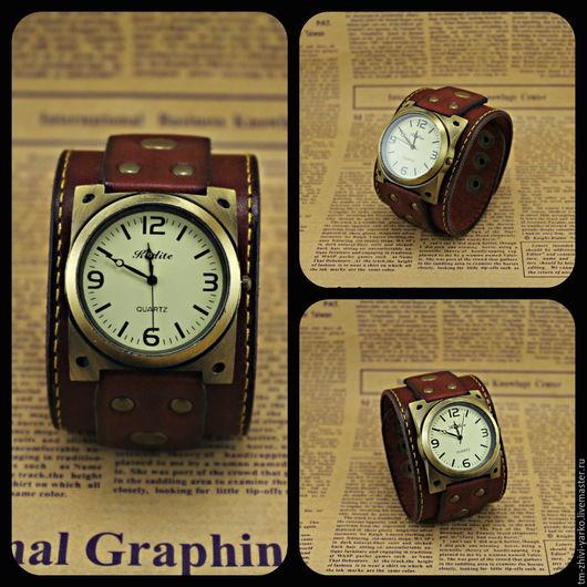 """Часы ручной работы. Ярмарка Мастеров - ручная работа. Купить Часы наручные в стиле винтаж """"Original Red"""". Handmade. Часы"""