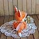 Мишки Тедди ручной работы. Катарина - лисичка Тедди в стиле Бохо. Лискины сказки. Ярмарка Мастеров. Рыжий, листопад