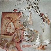 Картины и панно ручной работы. Ярмарка Мастеров - ручная работа Натюрморт Я птицу счастья свою отпускаю на юг.... Handmade.