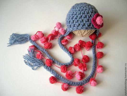 """Для новорожденных, ручной работы. Ярмарка Мастеров - ручная работа. Купить """"Сказочная фея"""" для фотосессии. Handmade. Серый, шапочка с цветком"""