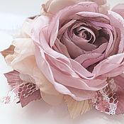 Украшения handmade. Livemaster - original item FABRIC FLOWERS. The branch of roses.