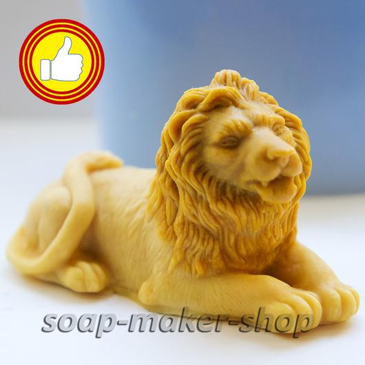 Материалы для косметики ручной работы. Ярмарка Мастеров - ручная работа. Купить Силиконовая форма для мыла «Лев 3D». Handmade.