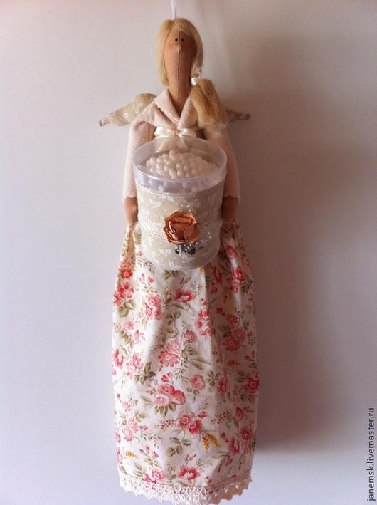 Куклы Тильды ручной работы. Ярмарка Мастеров - ручная работа. Купить Хранительница ватных палочек и дисков. Handmade. Бежевый, Декор
