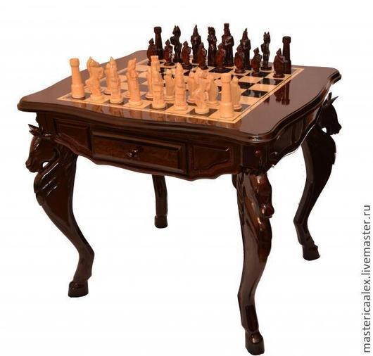 Мебель ручной работы. Ярмарка Мастеров - ручная работа. Купить Шахматный стол ручной работы. Handmade. Подарок мужчине