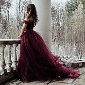 Одежда ручной работы. Ярмарка Мастеров - ручная работа Платье фатиновое в пол. Handmade.