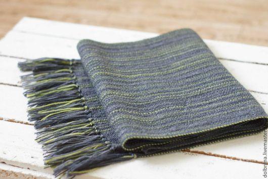 мужской шарф, домотканый шарф, шарф на весну
