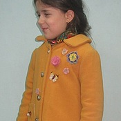"Работы для детей, handmade. Livemaster - original item Winter coat ""Favorite"". Handmade."