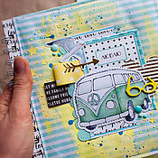 """Канцелярские товары ручной работы. Ярмарка Мастеров - ручная работа Фотоальбом """"Вперед за мечтой"""". Handmade."""