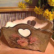 """Для дома и интерьера ручной работы. Ярмарка Мастеров - ручная работа Короб для мелочей """"Розы"""". Handmade."""