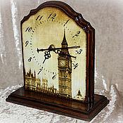 """Для дома и интерьера ручной работы. Ярмарка Мастеров - ручная работа часы """"Туманный альбион"""". Handmade."""